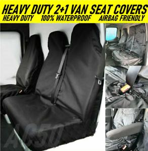 VAN SEAT COVERS CAMOUFLAGE DURABLE RED HEAVY DUTY 2-1 VAUXHALL VIVARO LWB