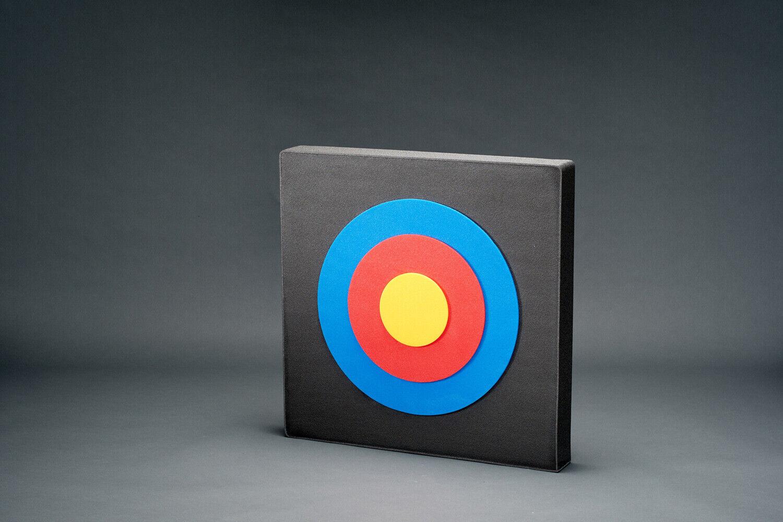 RIESIGE Zielscheibe 100 x 100 x 17cm mit FITAAUFLAGE  Lange Lebensdauer