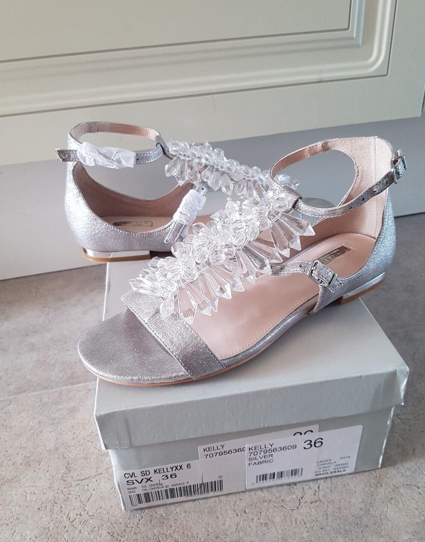 Stunning Kurt Geiger Carvela Silver shoes, size UK3 or EUR36 - brand new