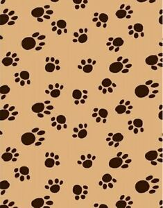 Velvafleece paws camel animal kids fleece fabric print by for Children s animal print fabric