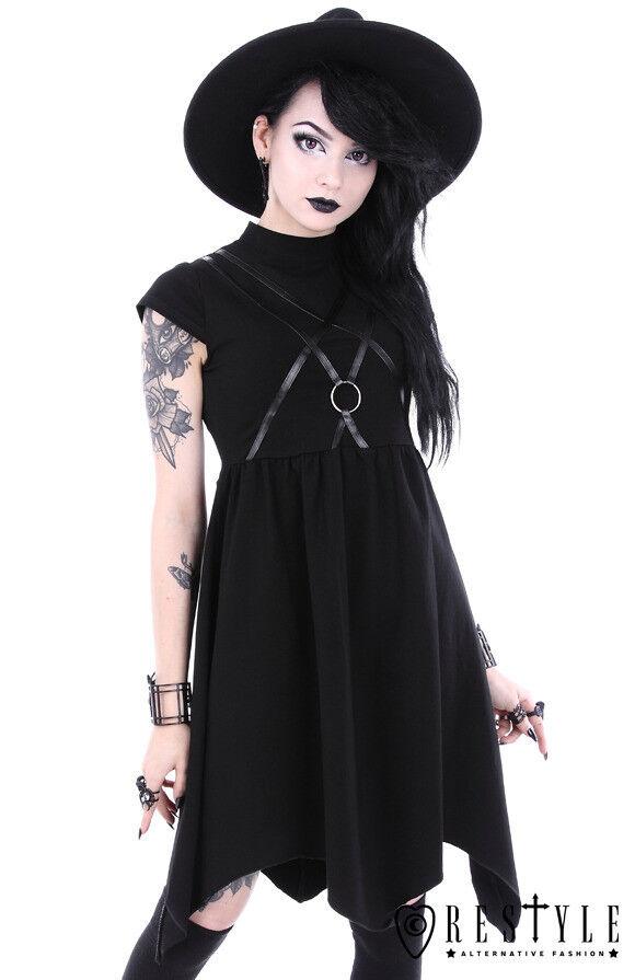 Restyle Sygil Tunic O-Ring Punk Rock Gothic Asymmetric Adult damen Dress