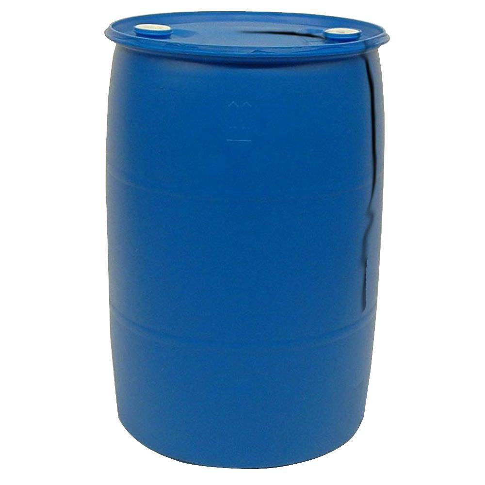 55 Gal. Blue Industrial Plastic DrUM Barrel, Sealed Tight-Head Drum With 2 Bungs