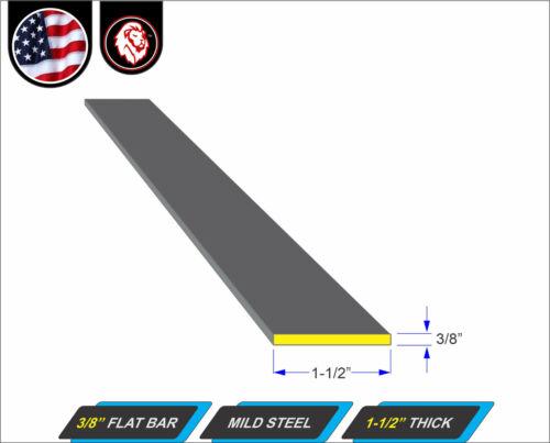 "Plain Finish 3//8/"" x 1-1//2 Flat Bar Metal Stock 24/"" Long"