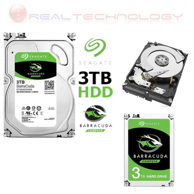 HARD-DISK INTERNO 3.5 SEAGATE 3TB ST3000DM007 BARRACUDA SATA III 7200RPM 64MB