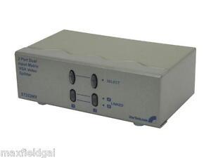 Used-StarTech-2x2-High-Resolution-Matrix-VGA-Video-Switch-Splitter-ST222MX-NO-PS