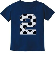 26e33194 2nd Birthday Gift 2 Year old Soccer Fan Toddler Kids T-Shirt For Two ...
