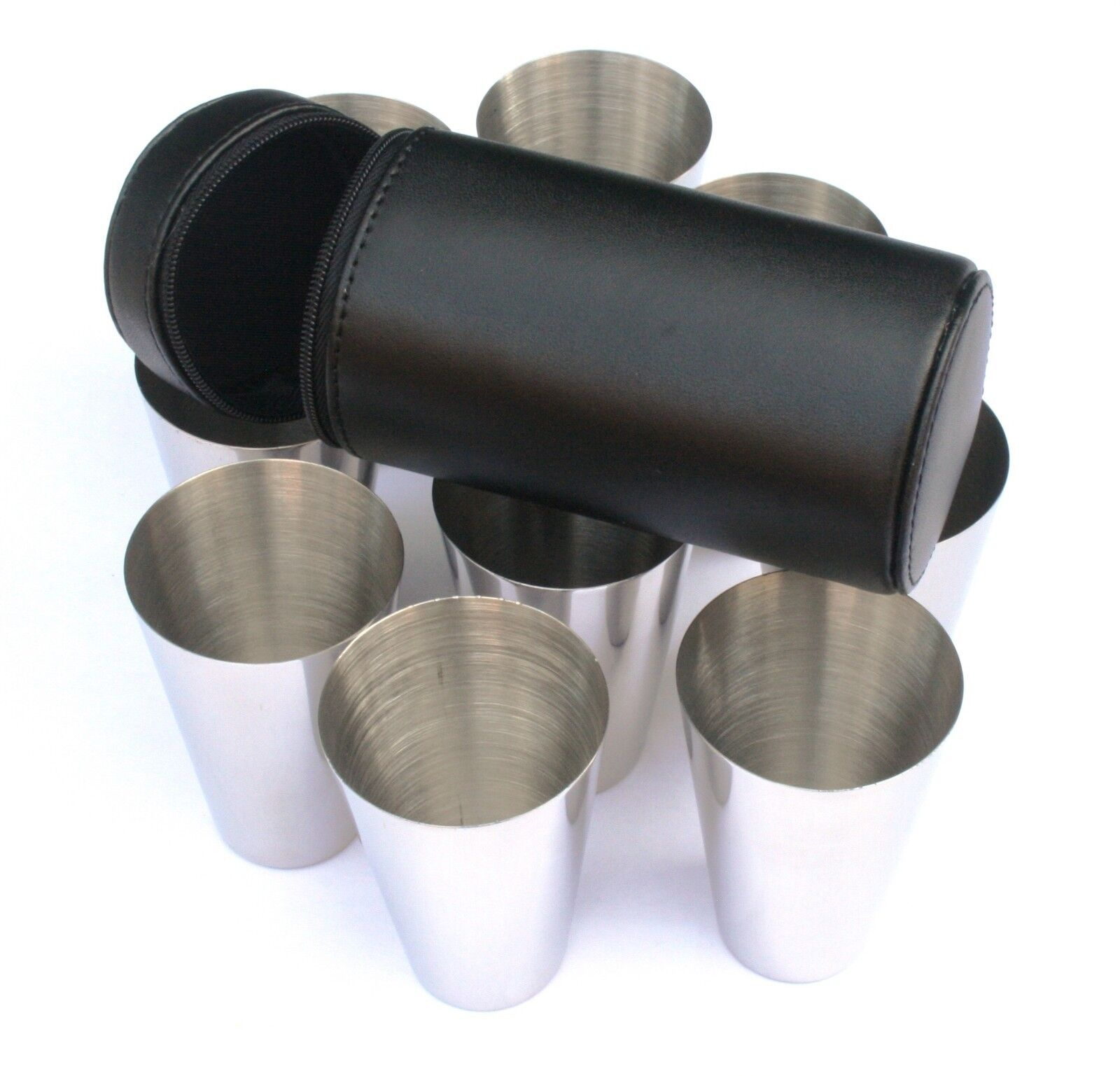 Stooping Falcon Peg Position Finder Finder Finder Numbered Cups 1-10 Black Leather Case bcffbb