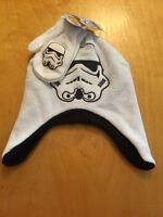 $18 Star Wars Stormtrooper Toddler Boy's White Winter Beanie Hat& Mittens B6
