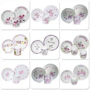 Image is loading Breakfast-Plate-Personalised-Dinner-Set-Plate-Mug-Baby-  sc 1 st  eBay & Breakfast Plate Personalised Dinner Set Plate Mug Baby Girls ...