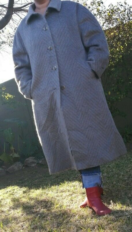 Quality Ladies Winter Coat - Llama & Merino Wool XXXL