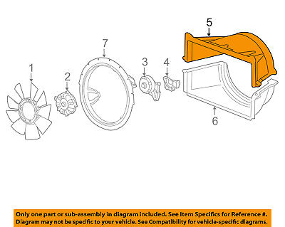 GM OEM-Radiator Cooling Fan Blade Shroud 15117016