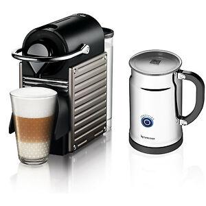 nespresso pixie espresso maker with aeroccino plus milk. Black Bedroom Furniture Sets. Home Design Ideas