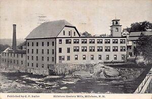HILLSBORO-NEW-HAMPSHIRE-HOSIERY-MILLS-C-F-BUTLER-POSTCARD-1938-PSTMK