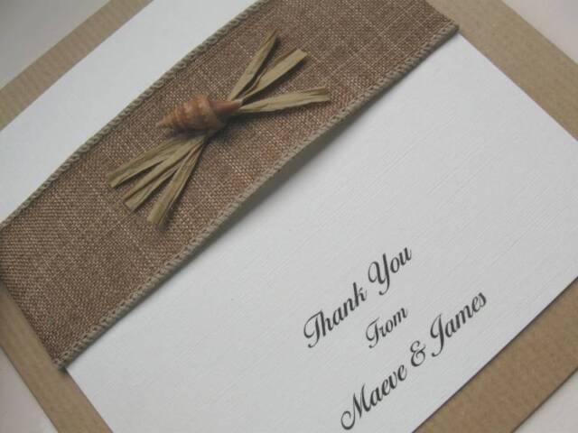 Beach Themed Weddings - Starfish & Shell Stationery - Menu / Place Card etc