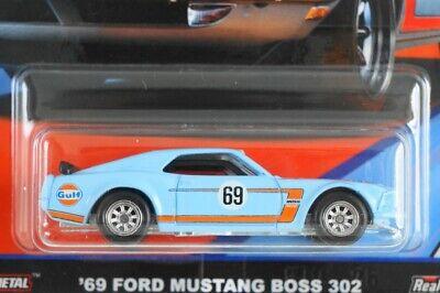 2019 Hot Wheels GULF Series Car Culture G Case /'69 Ford Mustang Boss 302
