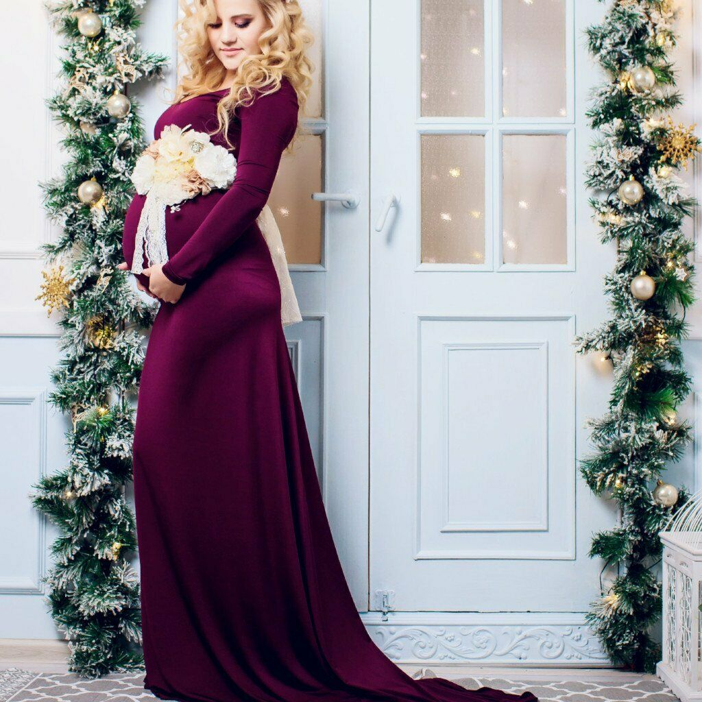 Vision Maternity Dress Gown for Photo Shoot Korinnart