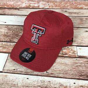 e56e17923e6 Texas Tech Red Raiders Under Armour Red Baseball Cap Hat Men s OSFM ...