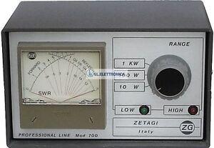 ZETAGI mod.700 Swr-Meter-Leistungsmesser 2 - 30 MHZ Und 120-500 MHZ 33012