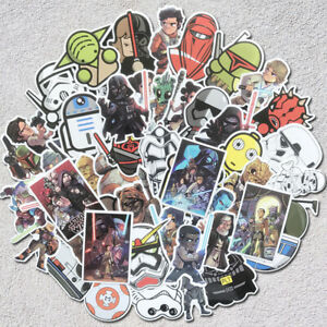 50Pcs-Star-Wars-Graffiti-Bomba-de-pegatinas-de-vinilo-Laptop-Equipaje-De-Skate-Lote-Cool
