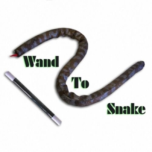 Free Shipping Wand To Snake Silk&CaneMagic