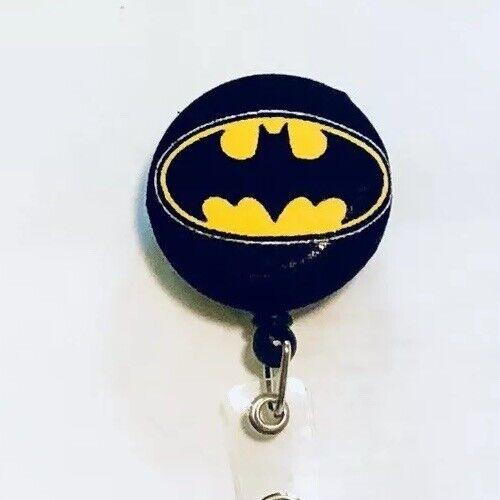Batman Retractable Badge Holder Nurse Alligator Belt Clip RN CNA LPN DR Tech