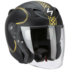 casque-casco-helmet-JET-SCORPION-EXO-220-NOIR-BIXBY-taille-M-57-58