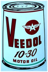 Tydol 10 30 Motor Oil Can Metal Sign Ebay