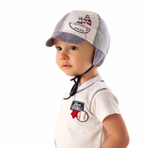 Children Boy Sun Protection Cap Bonnet Hat drawstring Spring Summer Air Vents