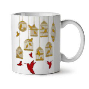 Fly Bird Beautiful NEW White Tea Coffee Mug 11 oz | Wellcoda