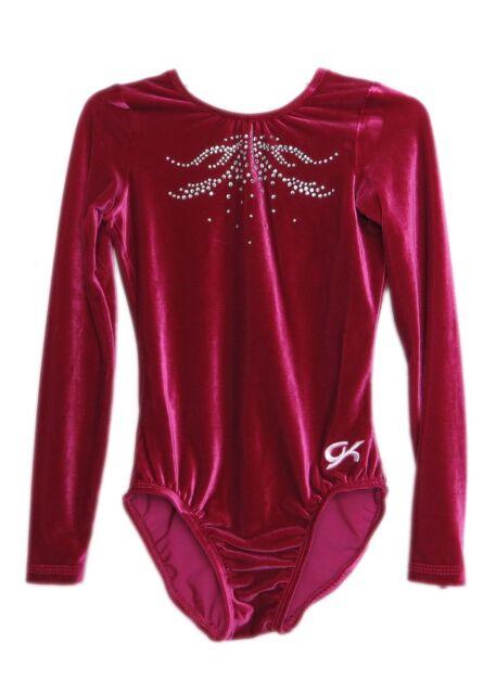 GK Elite Turq Velvet//Mystique Gymnastics Leotard AXS Adult Extra Small 4014