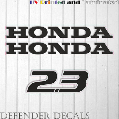 Honda 225 hp Four Stroke outboard engine decal sticker set reproduction 225Hp