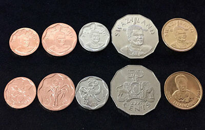 2017 UNC St Thomas /& Prince Set 5 COINS,10 20 50 Centimos +1 2 Dobras S-2