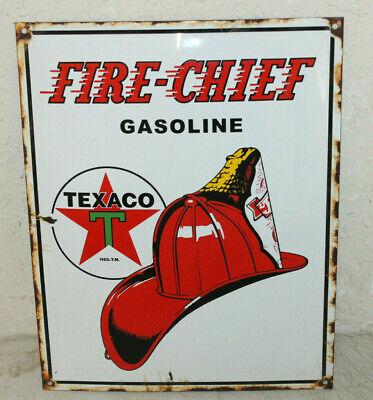 Texaco Gasoline Oil Vintage Style Porcelain Signs Gas Pump Man Cave Station
