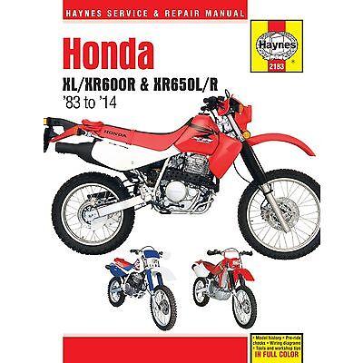 2183 Haynes Honda XL/XR600R & XR650L/R (1983 - 2014) Workshop Manual