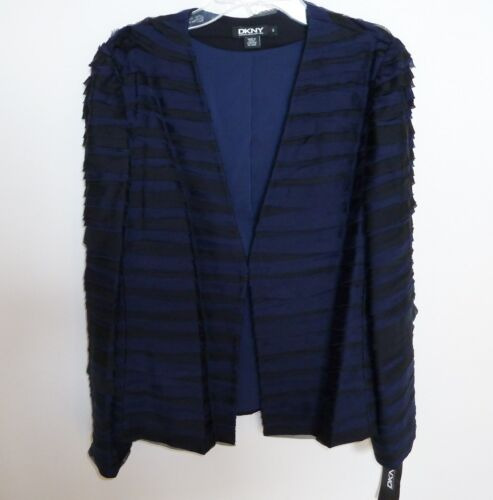 M Silk S Nwt L Dkny 345 Shreded Scegli Jacket ribbon Chiffon wwAI0q