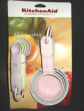 Kitchenaid Pastel Measuring Cup & Spoon Set - Kitchen Soft Grip Handles HA5A