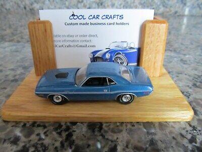 Dodge Challenger SRT Business Card Holder oak die cast car Hemi Mopar Muscle car