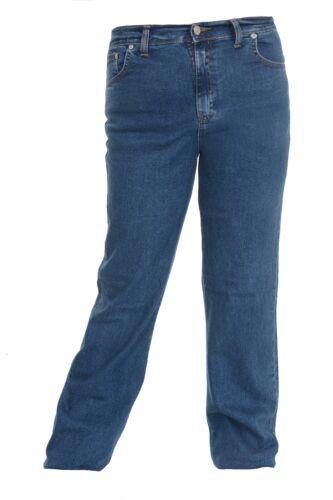 Ladies Women's Plus Size Bootcut Jeans in Indigo Stretch Denim Size 16 to 30