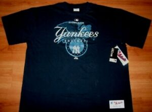 New-York-Yankees-T-shirt-2XL-Navy-Authentic-Collection-Majestic-Athletics-MLB