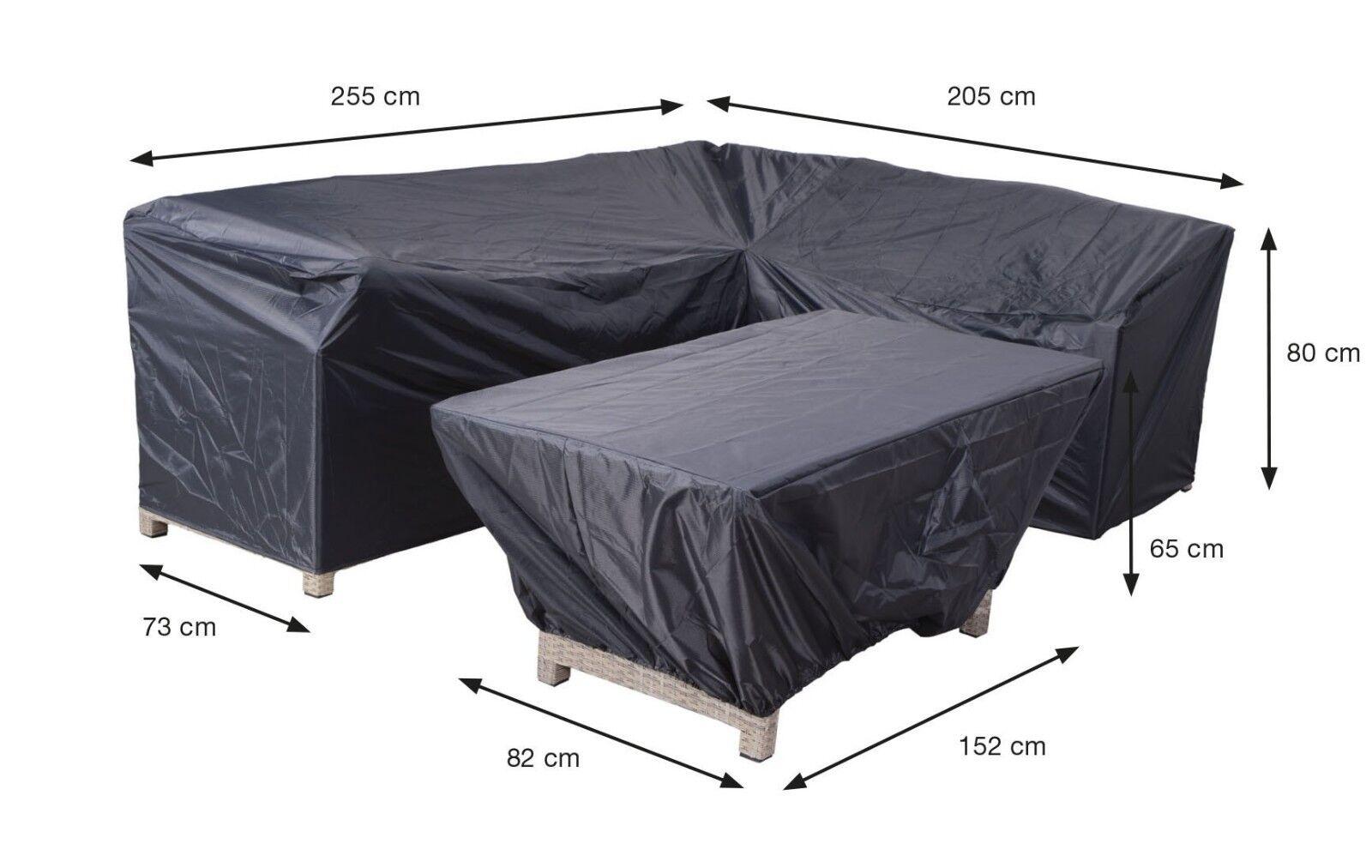 Schutzhülle Möbelschutzhülle Coverit Lounge Dinner hülle 255 205x73xH80 & 152x82     | Ausgezeichnete Qualität