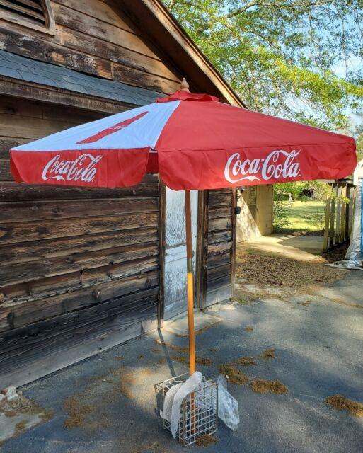 Coca-Cola 6 Ft Patio Umbrella Red Contour Bottle Two-Way Tilt BRAND NEW