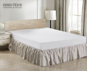Simple-amp-Opulence-100-Linen-Bed-Skirt-Dust-Ruffle-with-Classic-14-inch-Drop