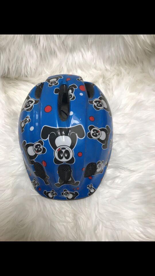 Cykelhjelm, Mørkeblå med bamse motiv