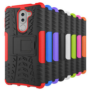 Shockproof-Rugged-Rubber-Hybrid-Armor-Hard-Case-Stand-Cover-For-Huawei-Honor-6X