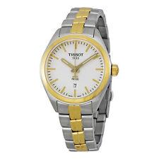 Tissot PR100 Silver Dial Two-tone Ladies Watch T1012102203100