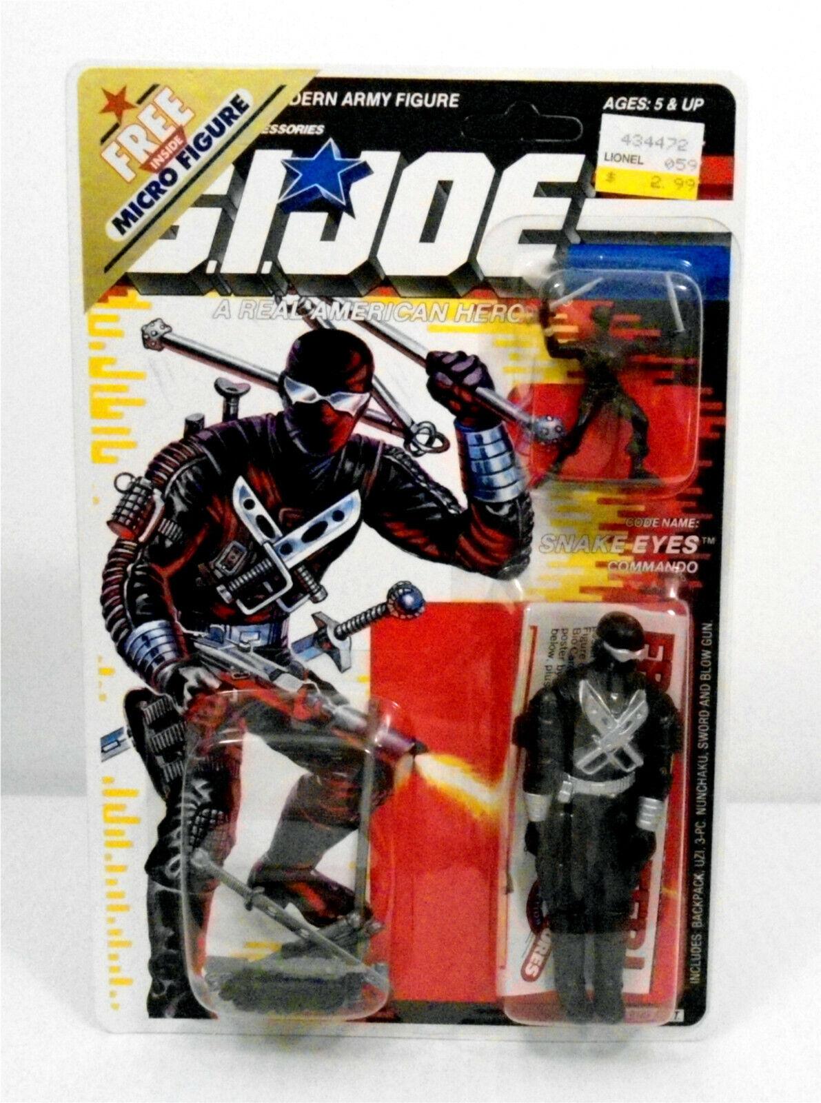 GI Joe Snake Eyes V3  Action Figure Snake Eyes Micro fig+ 2 offers UNPUNCHED voitured  expédition rapide et meilleur service