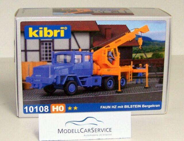 Kibri 1/87 (H0): 10108 Faun Hz 36.40/45 con Bilstein-Bergekran