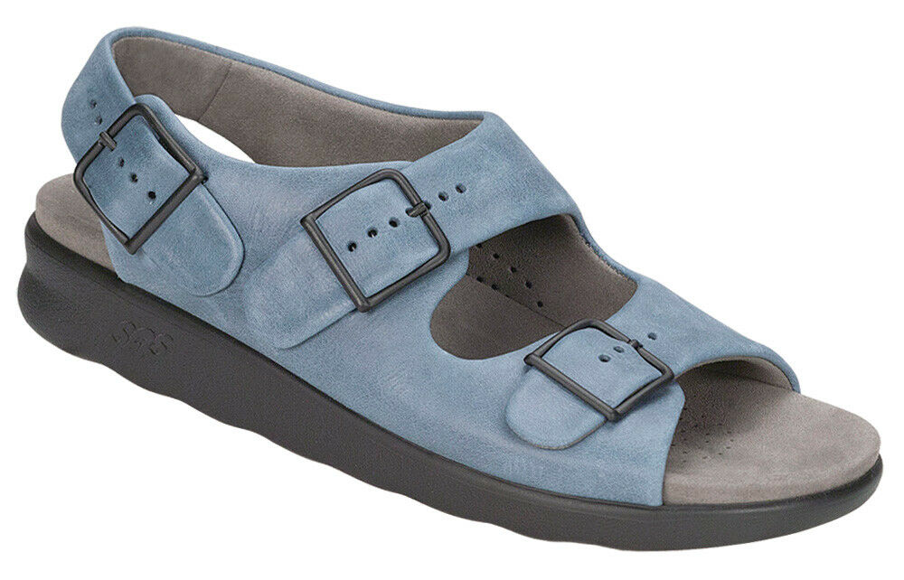 SAS Women's shoes Relaxed Sandal Denim 8.5 Medium FREE SHIPPING Brand New In Box
