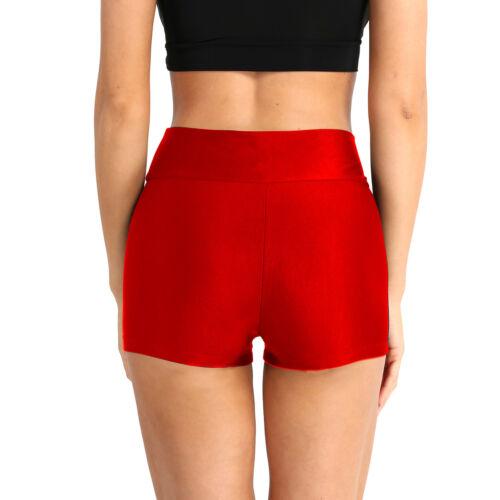 Women Adult Skinny Solid Sport Shorts High Waist Yoga Short Pants Running Shorts