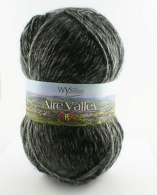 West Yorkshire Spinners -Aire Valley Fusions -Wool Blend Knitting Yarn- Grey Mix